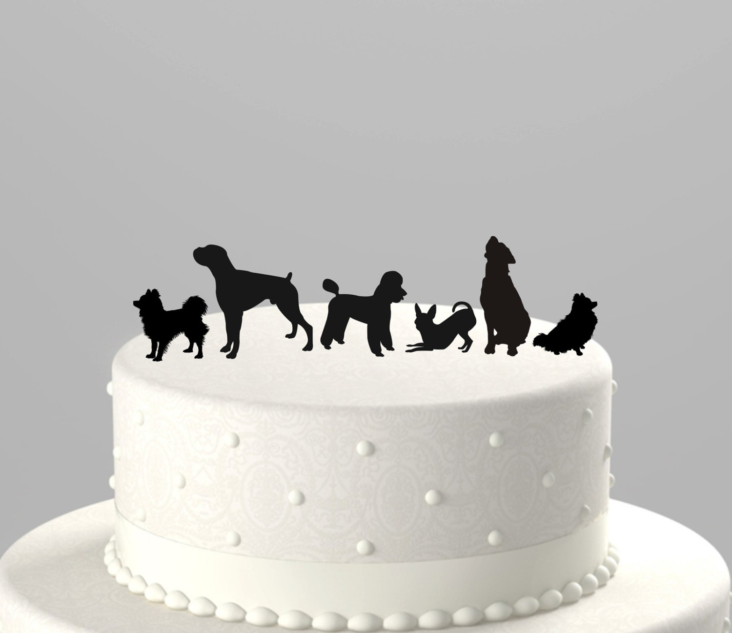 etsy wedding cake topper dog add a pet silhouette cake topper cupcake topper acrylic 14051