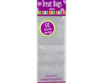 "3"" x 10"" Clear Plastic Treat Bag 50 Bags per Package"