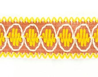 30yds Vintage Retro Cotton Braid Trim (Yellow & Brown)