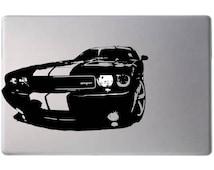 Laptop decal – Laptop Sticker – Macbook Pro decal – Macbook Air decal – Car window – Hipster - Dodge Challenger