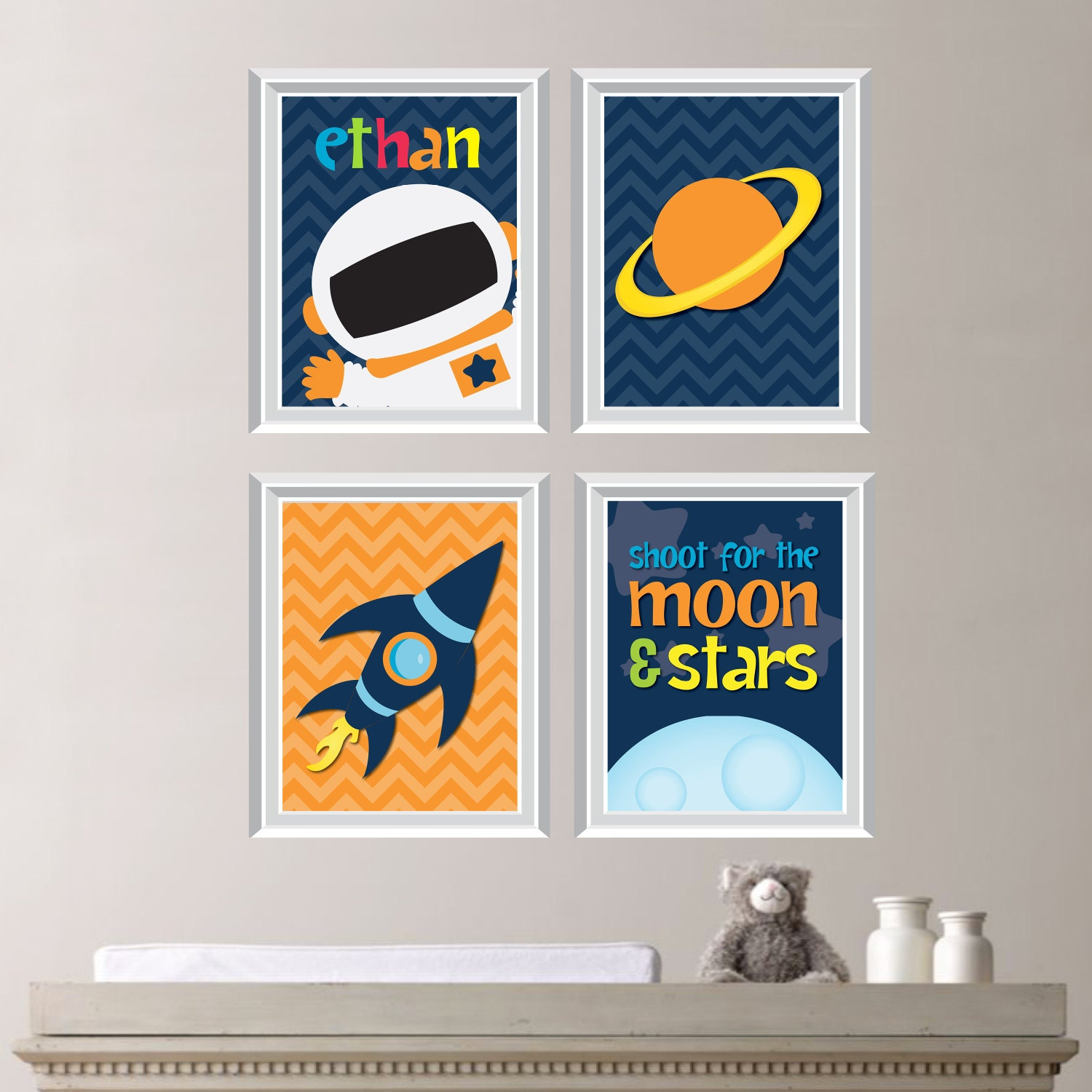 Outer space nursery art prints outer space decor outer space for Decor outer space
