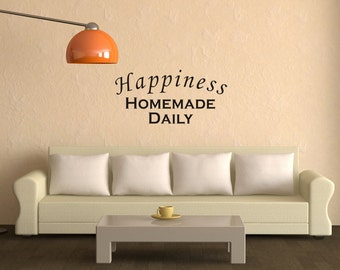 Wall Art Decal Happiness - Homemae Daily Rremovable Vinyl Wall Decal
