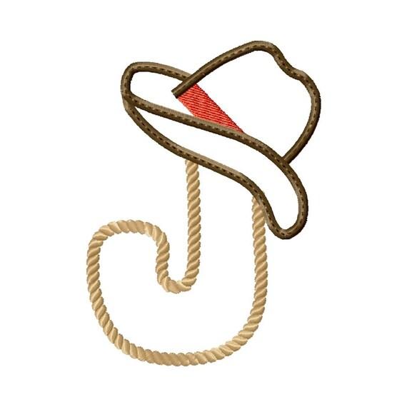 J Letter Design Western Rope Le...