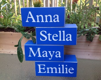 Personalized Name Sign. Wood Shelf Sitter. Country Decor. Wood Decor. Wood Desk Decor.