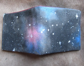 Captivating Cosmic Painted Wallet