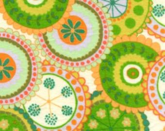 Della Flannel - Medallion - Sun  by Valori Wells for Free Spirit Fabrics