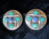 Celtic Style Brooches in Bronze with Malachite & Lapis