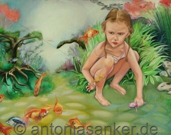 "Fine art Giclée print ""Waterbabies"" by Antonia Sanker"