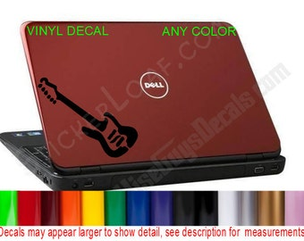 Electric Guitar hp dell Apple Laptop Decal Sticker acer macbook mac book laptop skin lap top decals stickers Music Rock Band Fender Gibson