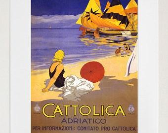 Italy Travel Poster Italian Art Print Retro (TR117)
