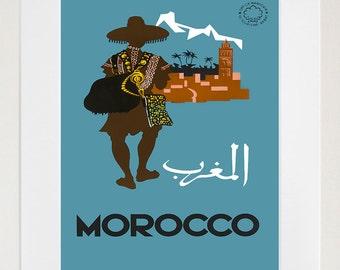 Travel Art Morocco Print Poster Vintage Home Decor (XR95)