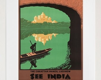 India Wall Art Travel Poster Vintage Print (ZT241)