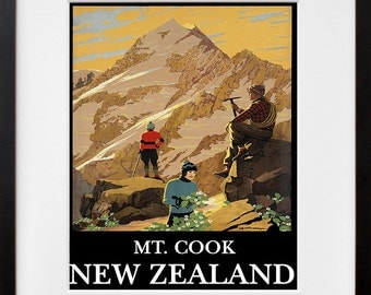 New Zealand Art Print Travel Poster Home Decor (ZT345)