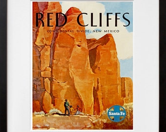 Moab Utah Art Print Red Cliffs Travel Poster Western Home Decor (ZT333)