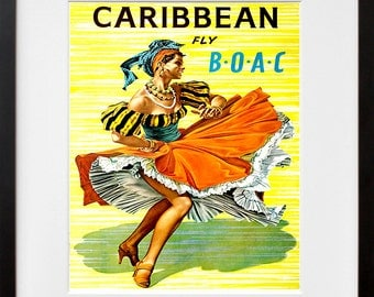 Caribbean Art Print Travel Poster Home Decor (ZT305)