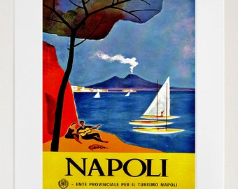 Naples Travel Art Print Italy Home Decor (ZT313)
