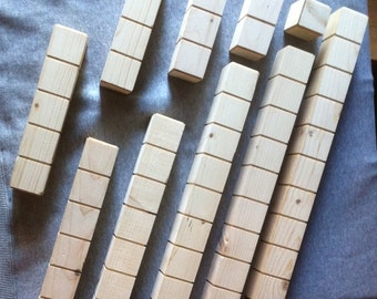 Number Rods for Montessori Teaching System