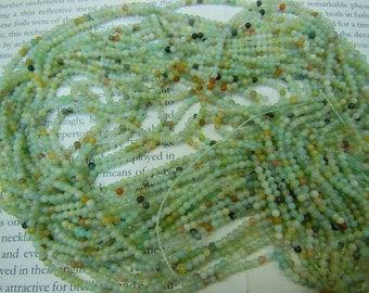 2mm natural amazonite round beads, 15.5 inch