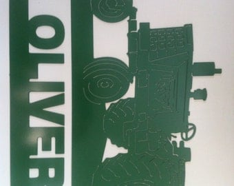 Oliver Tractor Sign Hand Made Metal Oliver Tractor
