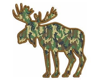 Moose Machine Embroidery Digitized Design Pattern - Instant Download Digitized Pattern -4x4 , 5x7, and 6x10 hoops