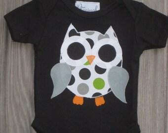 Polka Dot Owl Bodysuit