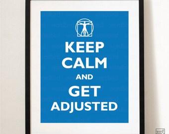 Chiropractic Print - Get Adjusted, Adjust On chiropractor gift, Chiropractic student gift, wall art