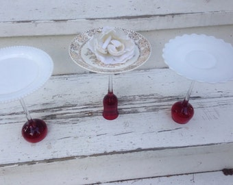 Shabby Chic Wedding Dishes, Wedding Pastry Plates