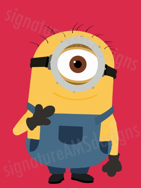 Digital Artwork of Despicable Me CHARACTER - Minion Stuart. (11.7x16.5 inches / A3)