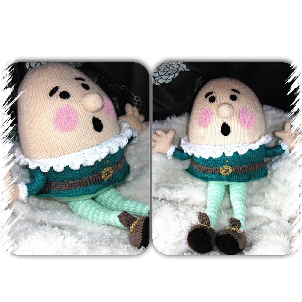 Free Humpty Dumpty Knitting Pattern : Hand Knitted Humpty Dumpty Plush Toy Nursery Rhyme Children
