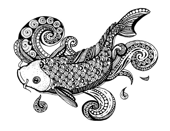 1000+ images about fish on Pinterest | Zentangle