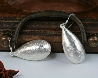 S A L E  Big Silver Earrings, Silver Dangle Earrings, Sterling Silver Earrings, Silver Earrings