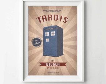 Doctor Who Vintage Poster - Retro Poster, Digital Art Print, TV Poster