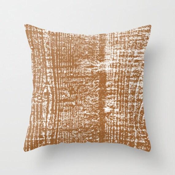 Rustic Decorative Pillow Covers : Wood Grain Rustic Pillow Cover rustic decor wood lines