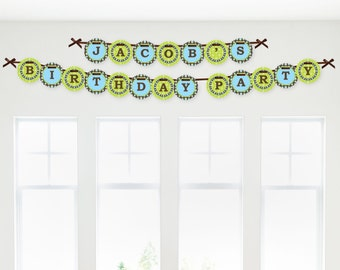 Monkey Boy Garland Banner - Custom Party Decorations