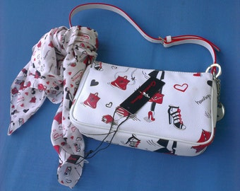 Cromia Femme lady leather handbag-set + scarf + keychain