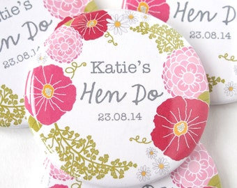 Personalised Hen Party Badge - Hen Party Badges - Hen Party Gifts - Hen Party Bag - Hen Party Favour - Hen Do Badges - Hen Do Favours