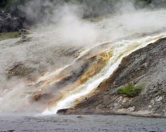 Geyser Waterfall - Yellowstone