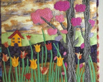 House with tulips.
