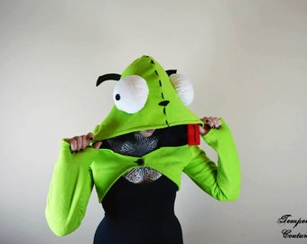Invader Zim Gir Dog Suit Hooded Shrug Hoodie