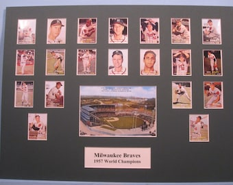 Honoring the Milwaukee Braves - 1957 World Series Champions led by Hall of Famers Warren Spahn, Hank Aaron & Ed Mathews