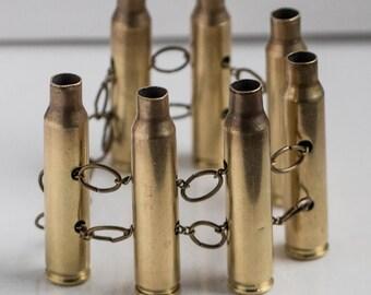 5.56 brass bullet chain bracelet