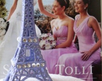 Wedding Cake Topper Purple Eiffel Tower  MMJewlery Collection  We Ship Internationally