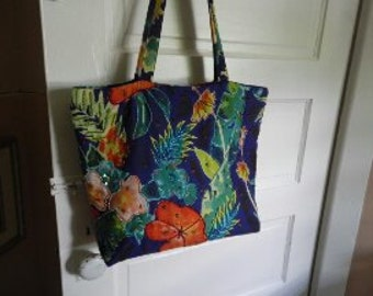 Colorful Cotton Bag with Beaded and Sequined Accents!