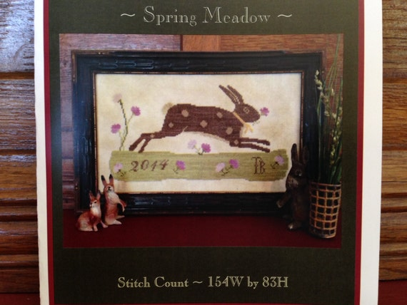 SPRING MEADOW ~ Cross Stitch Sampler Pattern/Chart  from Scattered Seed Samplers© 2014 by Designer Tammy Black