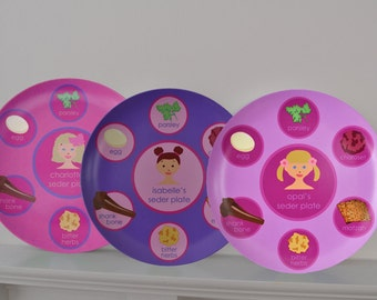Personalized Passover Seder Plate - English