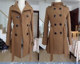 brown coat black coat woolen coat long coat winter coat warm coat women clothing long sleeve coat jacket outerwear