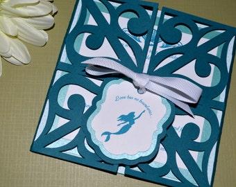 Fairy Tale Wedding Invitations - The Little Mermaid, Gate Fold