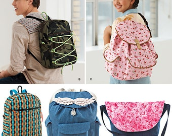 Simplicity Sewing Pattern 1388 Backpacks and Messenger Bag