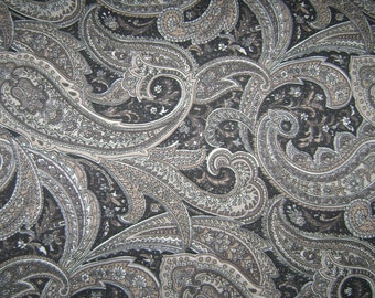 Home Decor Fabric by the 1/4 Yard - Paisley Neutral