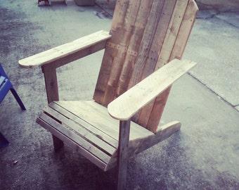 Reclaimed pallet Adirondack chair.